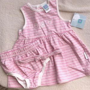 Other - Baby dress, diaper cover and headband